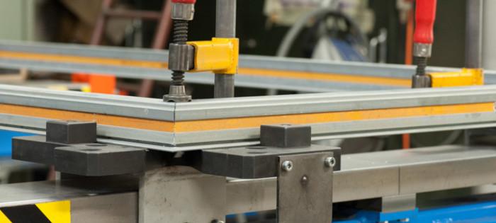 Fertigung Stahlrahmentür