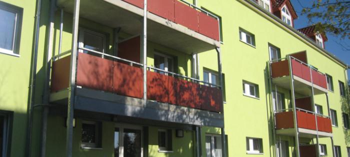 Studentenwohnheim Mittweida - Balkonanlagen